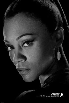 Star Trek Black and White Character Movie Posters - Zoe Saldana as Uhura