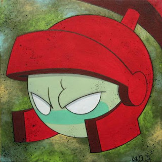 Cartoon Canvas Series by kaNO - Marvin the Martian Painting