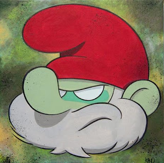 Cartoon Canvas Series by kaNO - Papa Smurf Painting
