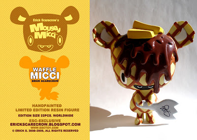 The ESC Toy Exclusive Limited Edition Hand Painted Waffle Mousey Micci Resin Figure by Erick Scarecrow