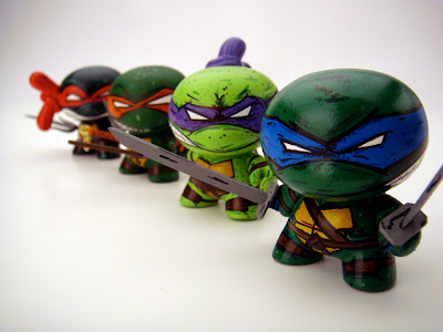 Teenage Mutant Ninja Turtle Dunnys (Raphael, Michelangelo, Donatello & Leonardo) by Nikejerk
