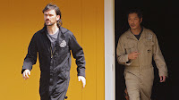 Lost - The Variable - Jeremy Davies as Daniel Faraday and Ken Leung as Miles Straume