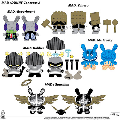 Kidrobot - MAD's 2009 Dunny Concept Designs 2