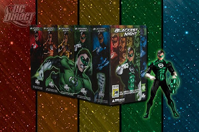 San Diego Comic Con 2009 Exclusive Green Lantern Hal Jordan Blackest Night Action Figure and Set Packaging