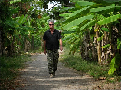 Anthony Bourdain: No Reservations - Thailand - Tony takes a stroll amongst giant banana leaves in Thailand