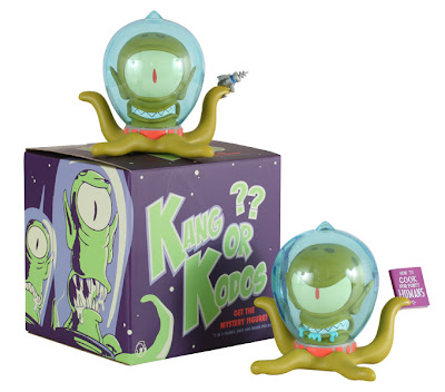 Kidrobot x The Simpsons 6 Inch Kang & Mystery Chase Kodos Vinyl Figures and Packaging