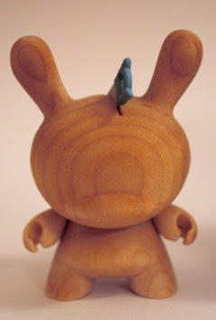 Kidrobot Dunny Series 2009 Chase Wood Dunny Variants by Travis Cain - Saw Wood Dunny