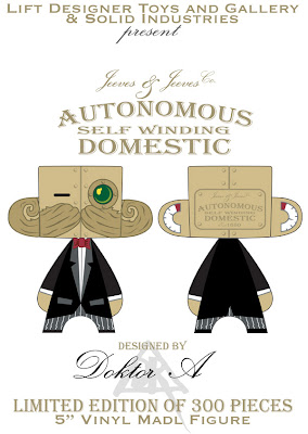 Lift Exclusive Jeeves & Jeeves Co. Autonomous Self Winding Domestic 5 Inch Mad'l Vinyl Figure by Doktor A