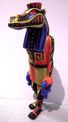 Lost Underground Art Project at Gallery 1988 - Cipactli Custom Taweret Resin Statue by Jesse Hernandez