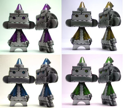 Fully Visual x MAD Mini Metal Mad'l Santa 09 - Purple, Yellow, Blue & Green Colorways