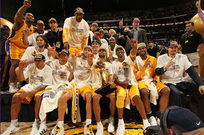 The 2010 NBA Champion Los Angeles Lakers