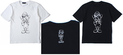 Original Fake x Disney Pinocchio & Jiminy Cricket T-Shirts by Kaws