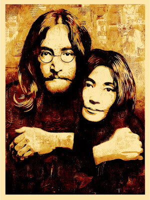 Obey Giant - John Lennon & Yoko Ono Canvas Print by Shepard Fairey