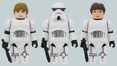 Star Wars Luke Skywalker & Han Solo in Stormtrooper Gear 100% Kubrick 2 Pack
