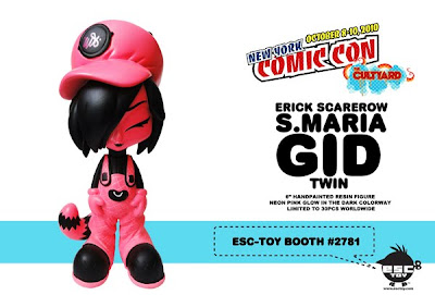 New York Comic-Con 2010 Exclusive Pink Glow in the Dark S. Maria 6 Inch Resin Figure by Erick Scarecrow