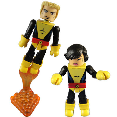 New York Comic-Con 2010 Exclusive New Mutants Minimates Box Set - Cannonball & Karma