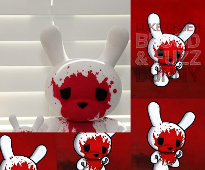 Kidrobot - Blood & Fuzz 8 Inch Flocked Dunny by Luke Chueh