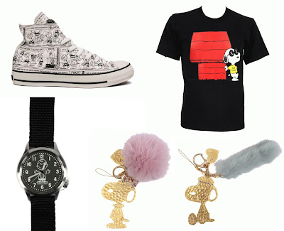 Peanuts 60th Anniversary Clothing & Accessory Collection - Converse x Peanuts Chuck Taylor All Star Sneakers, Original Fake x Peanuts Joe Kaws T-Shirt, Hysteric Glamour x Peanuts Charlie Brown Military Watch & JouJou x Peanuts Snoopy Mobile Accessories