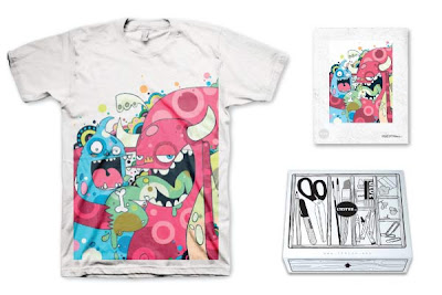 LTD Tee - Friendly Monsters T-Shirt & Art Print Box Set by Jason O'Dowd