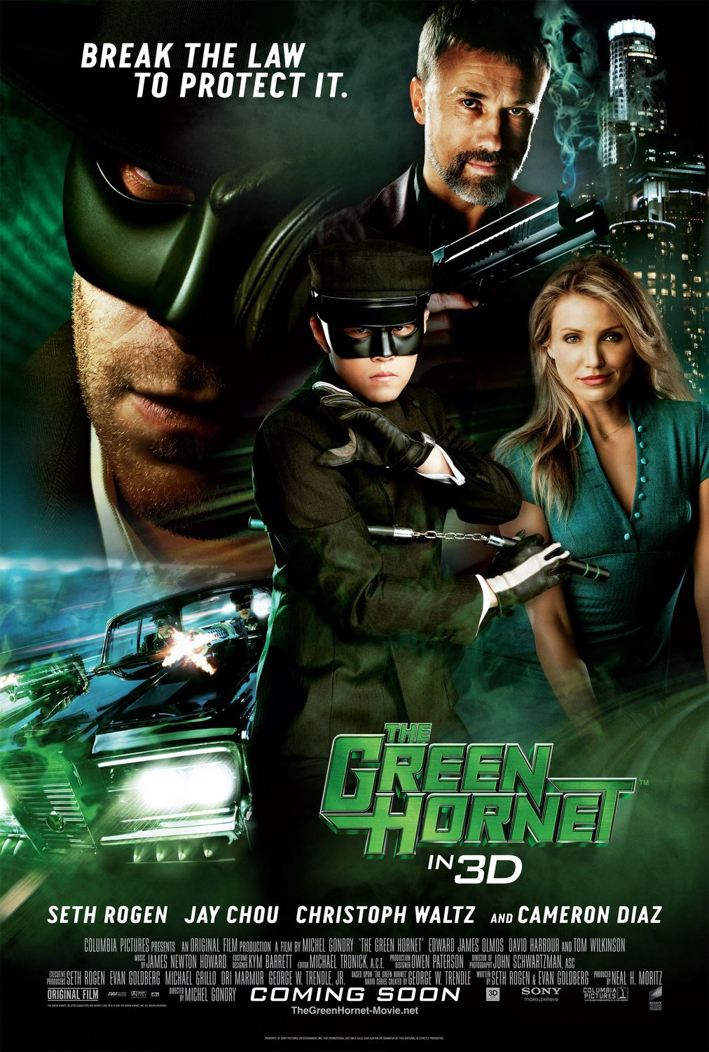 The Blot Says...: The Green Hornet Final One Sheet Movie ...