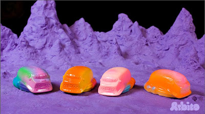 Hand Painted Mini Cosmic Hobo Van Resin Figures by Arbito