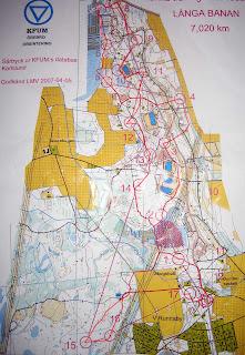 Kartan med vägval