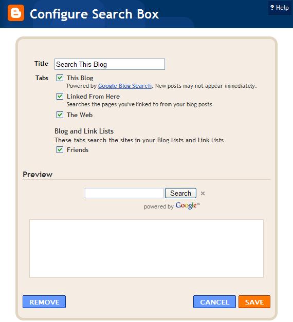 tins ::: Rick Klau's weblog: Blogger custom search gadget