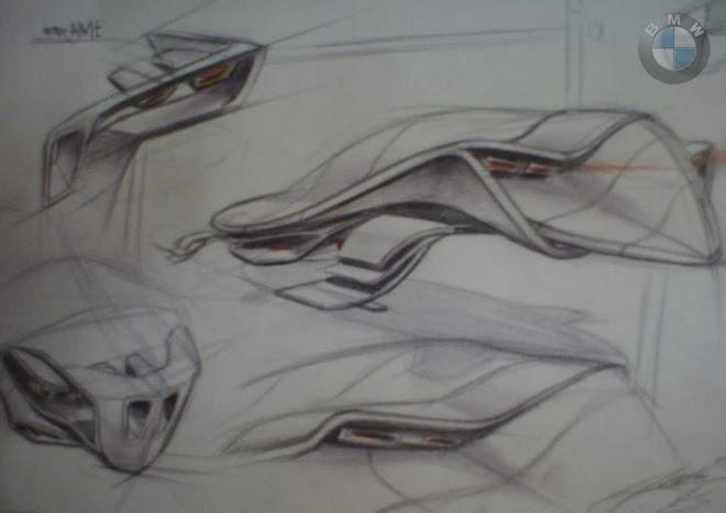 Handsketch BMW Hybrid concept
