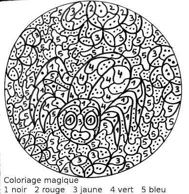 Coloriage Magique Insecte.Maternelle Coloriage Magique Insecte