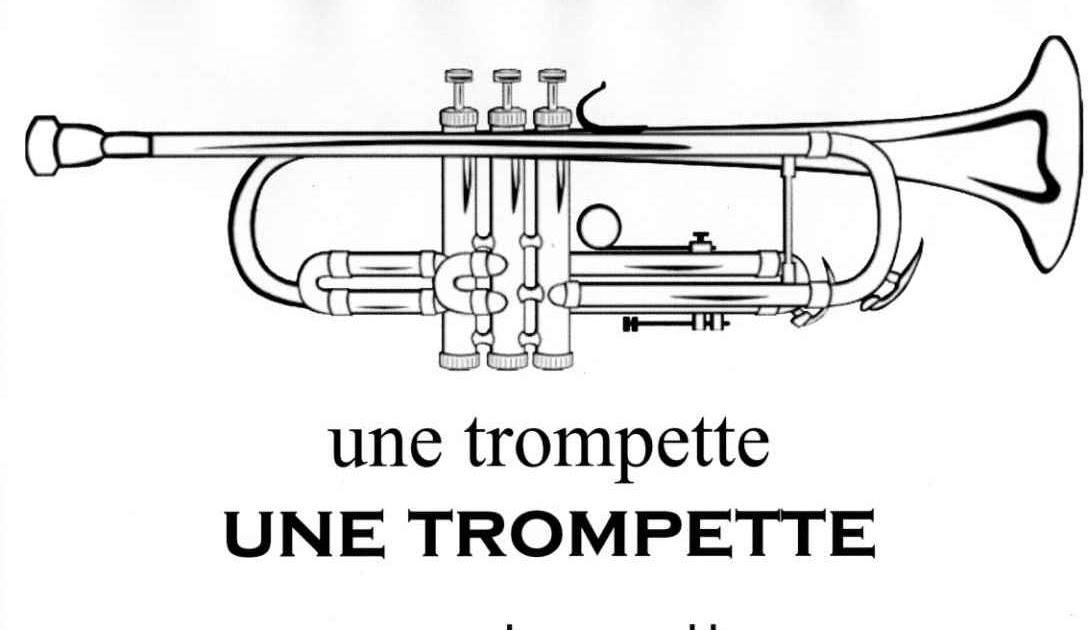 Maternelle: affiche, trompette