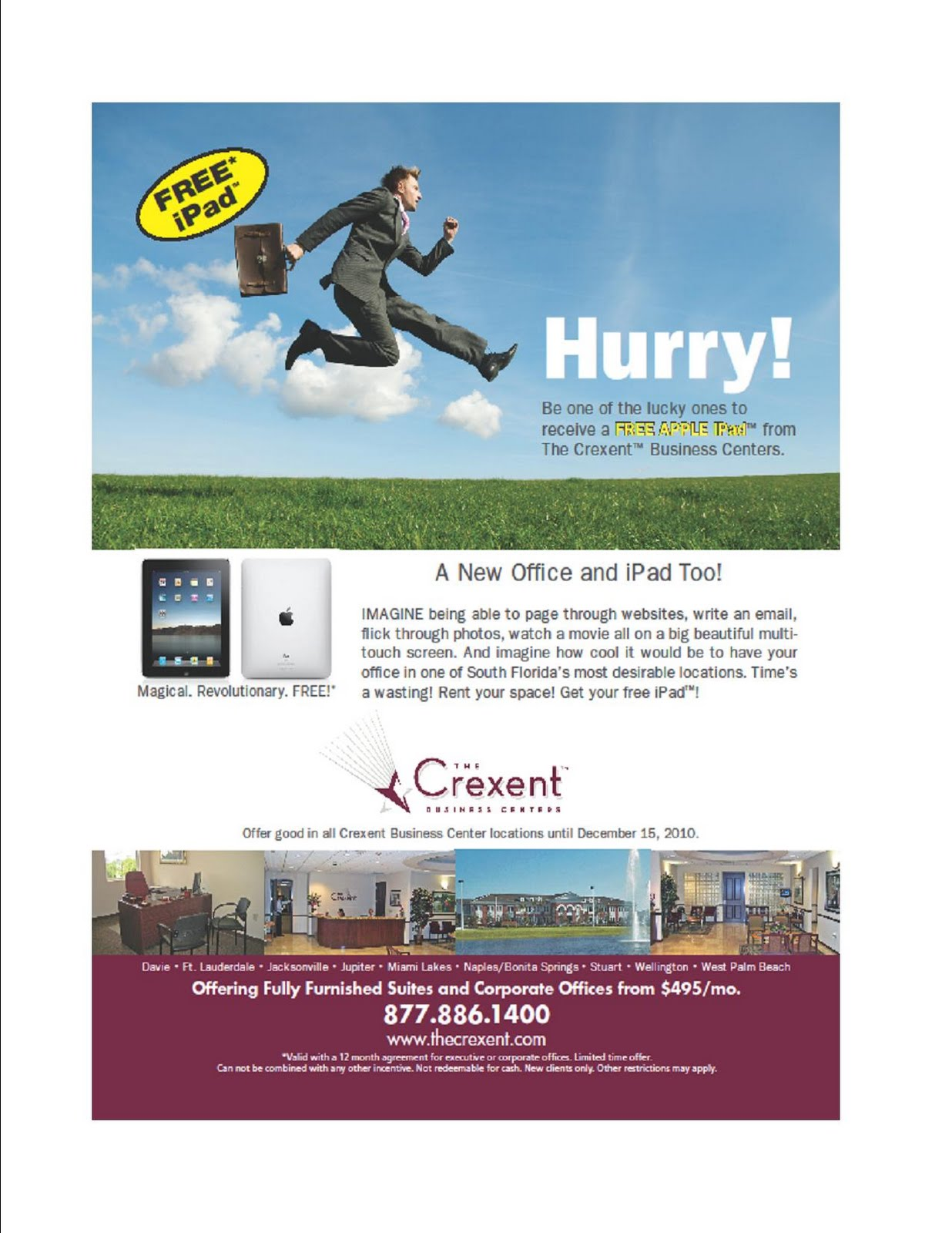 Free Le Ipad At The Crexent Business Centers