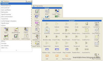 learn labview getting started part 2 if you do the same sort of click and place operation that you did on the front panel menu to place controls and indicators you will see that an icon just