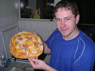 Pizza und Manni