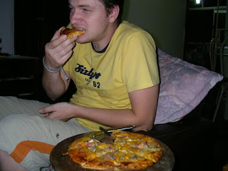 Pizza und Seb