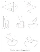 diagrama cisne Tutorial Origami Cisne