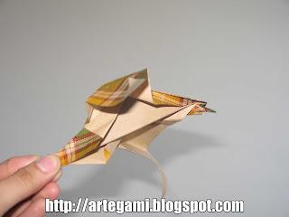 pato salvaje Tutorial Origami Pato Salvaje