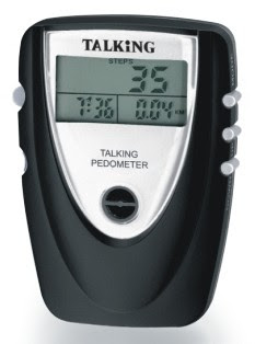 Picture of talking pedometer clock