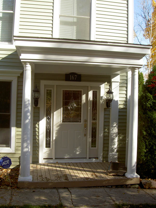 Architectural columns ideas for porches gardens and for Faux wood exterior columns