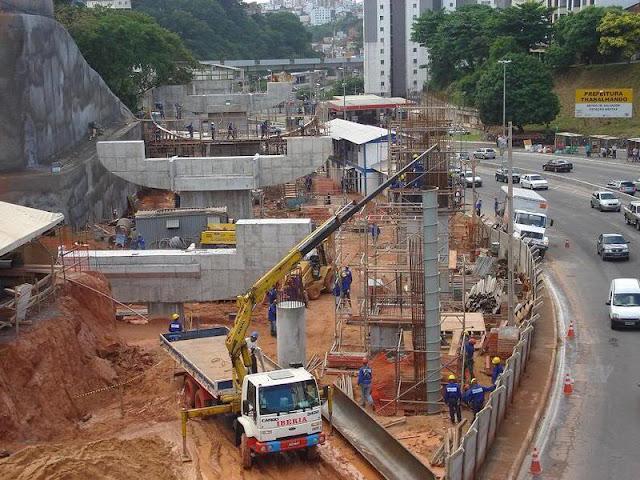 Resultado de imagem para obra do metrô de Salvador
