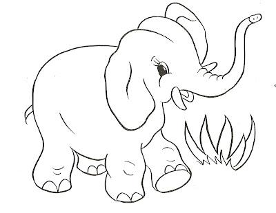 Sevimli filler boyama sayfaları