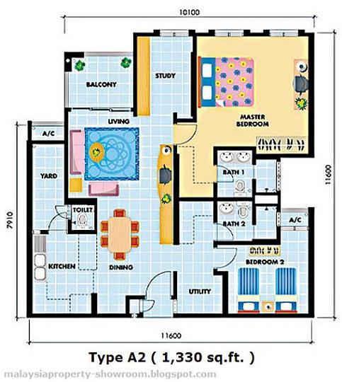 Casa tropicana condo malaysiacondo for Casa floor