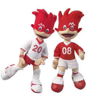 Trix and Flix Euro 2008 mascot