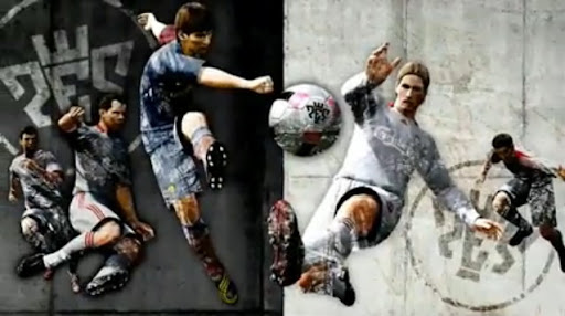 Fernando Torres and Lionel Messi in Pro Evolution Soccer 2010
