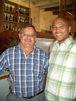 Randall Peceur (Tasting Room Manager left) and Dirkie Morkel (Owner/Viticulturist)