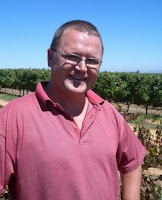 Abrie Beeslaar in the old Pinotage vineyard