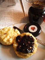 My homemade scone with Pinotage jam
