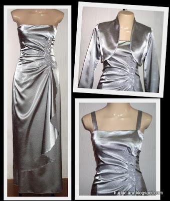 244e9365e Vestido e Bolero de Shantung c  Bordado de Guipir