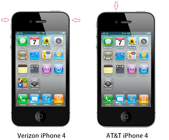 verizon iphone 4 verizon iphone 4 and at amp t iphone 4 difference pictures 13220