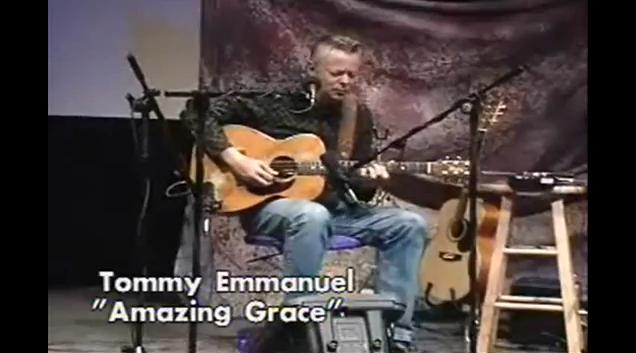 great guitar sound tommy emmanuel amazing grace woodsongs old time radio show. Black Bedroom Furniture Sets. Home Design Ideas
