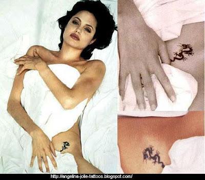Angelin Jolie tatoos gallery